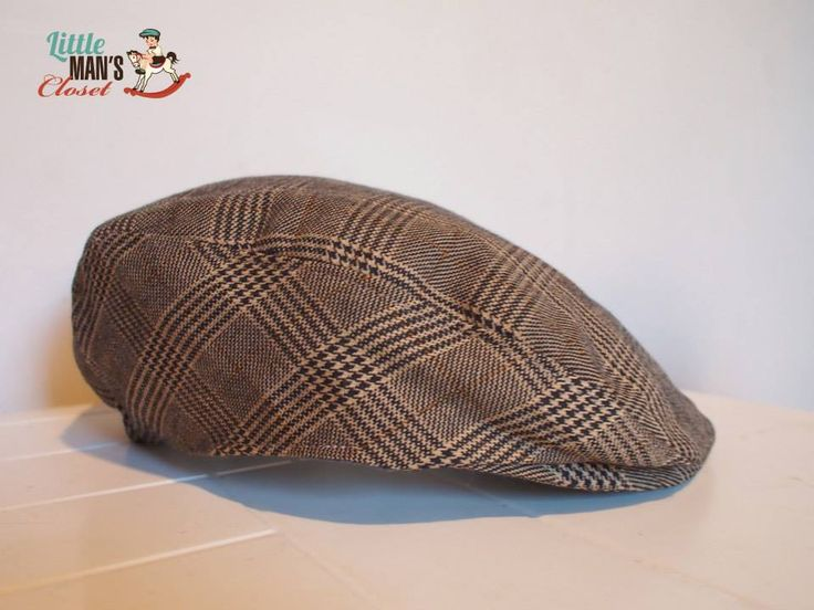 Fox and Hound boys vintage flat cap.  Handmade by Little Man's Closet.  Perfect addition to all Little Man's Closet :)