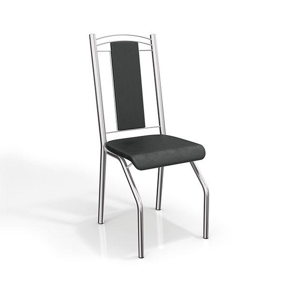 Gostou desta Par de Cadeiras Genebra Cromadas 2c065cr Com Estofado Preto - Kappesberg, confira em: https://www.panoramamoveis.com.br/par-de-cadeiras-genebra-cromadas-2c065cr-com-estofado-preto-kappesberg-3308.html