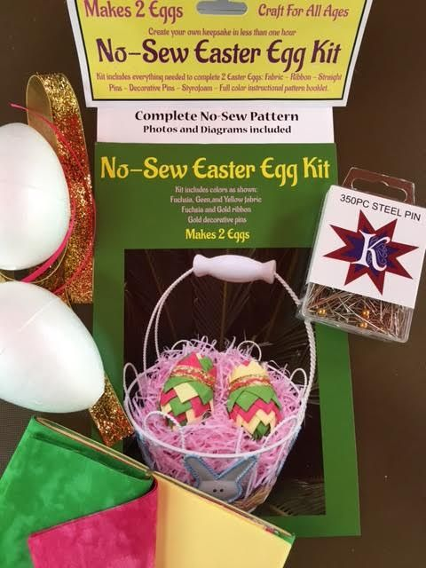 159 best no sew ornaments images on pinterest craft complete no sew ornament kit easter eggs pink green quilted easter negle Gallery
