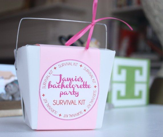 Good idea! Bachelorette party survival kit. Ha! I sure could have used this a couple weekends ago:)