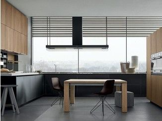 Lacquered wooden kitchen TWELVE - Varenna by Poliform