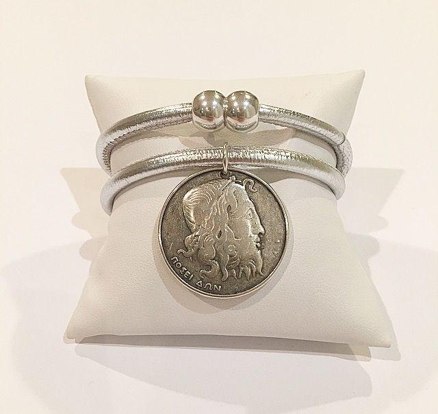 Silver Plated Greek Drachmas Metallic Silver Leather Wrap Bracelet - Irene Erika  #Stylish #Jewelry #drachmas  #coin #ArmCandy #Stylishoutfit #Bracelet #Bracelets #Beautiful #Fashion #Stylish #Stylist #Fashionista #Accessories #Accessorize #silver #Quote #Coffee #europe #Greece #Paris #Miami #London #Designs #Fashionblogger #Fashionblog #trends #Jewelrytrends #Trending #Trendsetter #Hot #Glamorous #Shop #Shopaholic #Shopping #Milan #NewYork #NYC #Girlboss #manhattan #timessquare #queens…