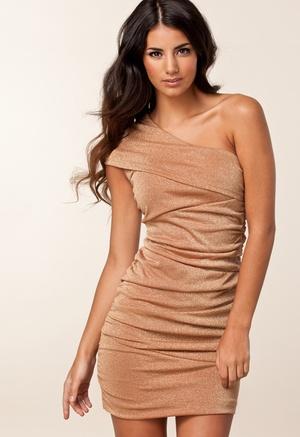 Vestido Drapeado Nude | Matriclick