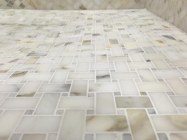 Basketweave Premium Honed Calacatta Gold Marble Mosaic