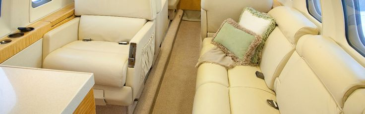 The interior of this gorgeous midsize jet - Hawker 800 for sale is equipped with seating for eight passengers, with a 4-place club configuration and 1 forward-facing seat alongside a spacious 3-person divan.