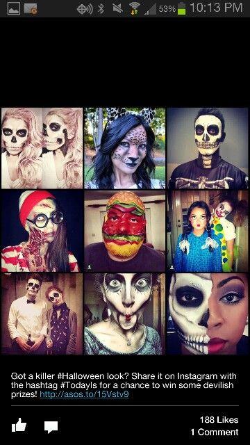 Face paint skull for Halloween