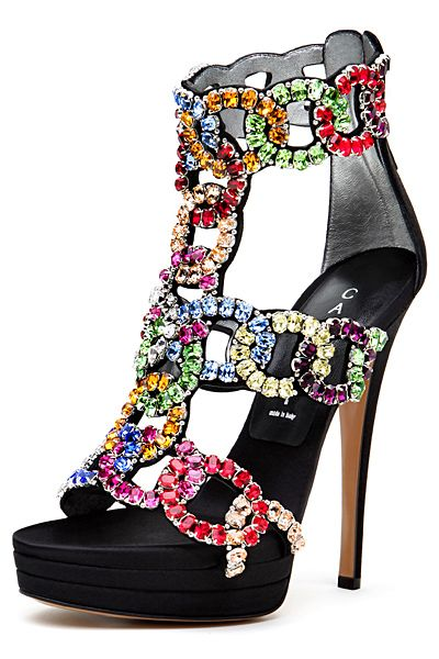 Casadei. Wow..hmmm where could I wear these?  I'd find a place.