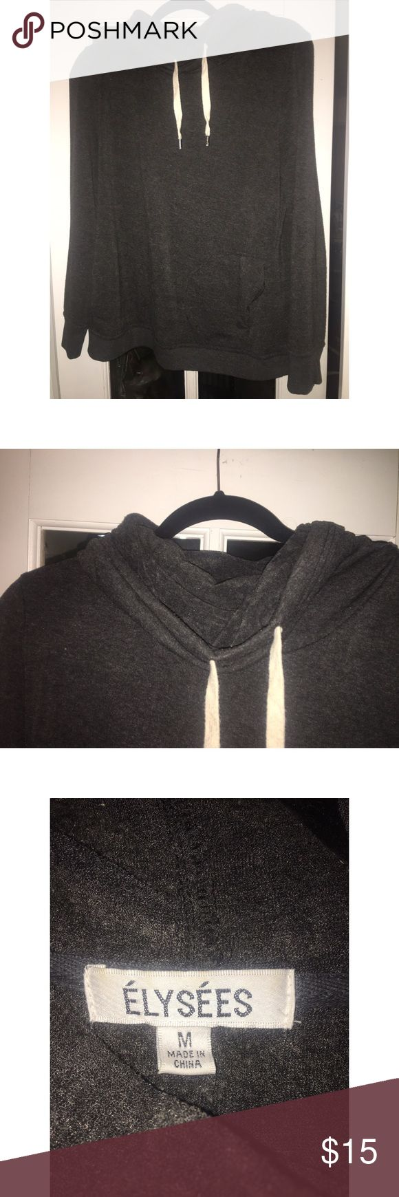 Pull over cowl neck hoodie Charcoal grey pull over cowl neck hoodie. Worn once. Super comfy with front pockets Sweaters Cowl & Turtlenecks