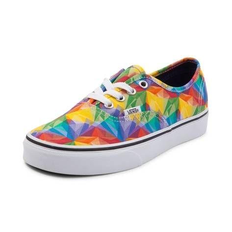 9552ad4f54 Vans Authentic Rainbow Prism Skate Shoe
