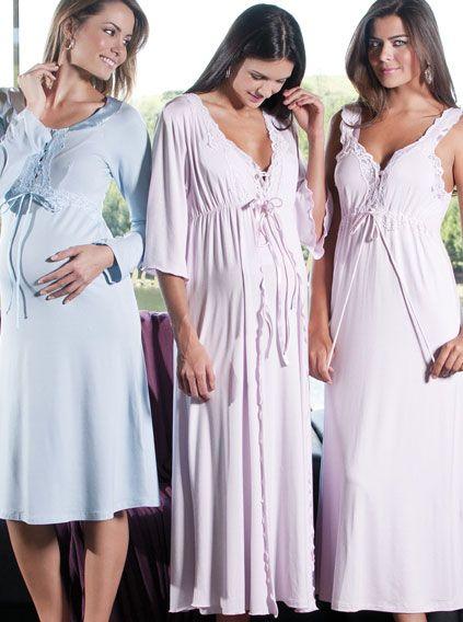 modelos de camisola para maternidade