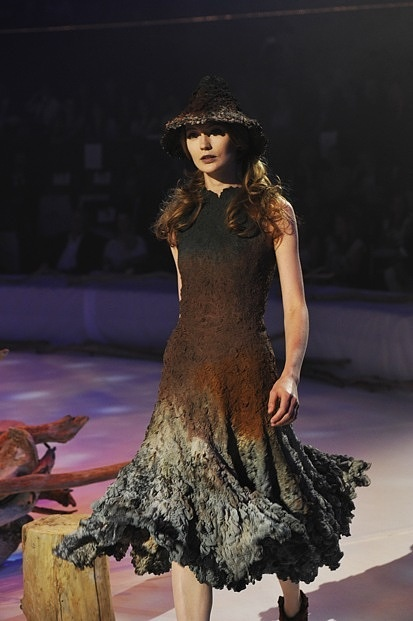 Felted dress by Franck Sorbier 2011