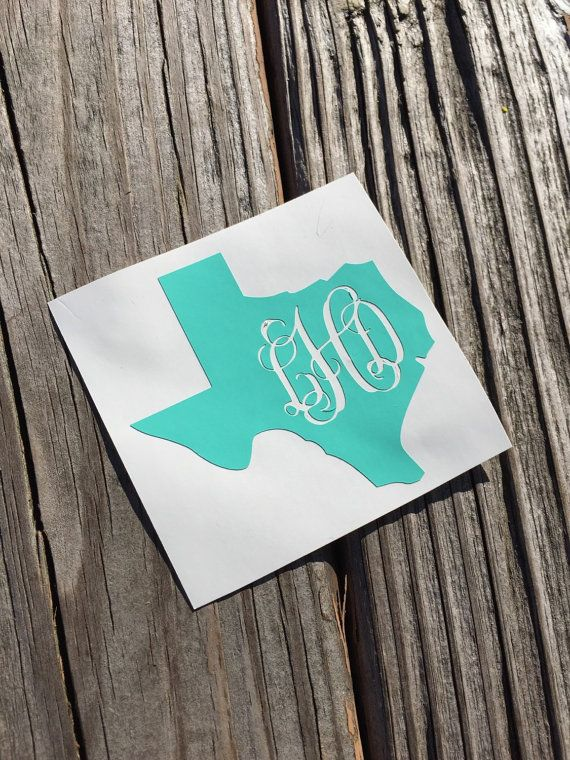 State monogram decal home vinyl decal personalized vinyl decal yeti cup decal car decal personalized sticker home sticker