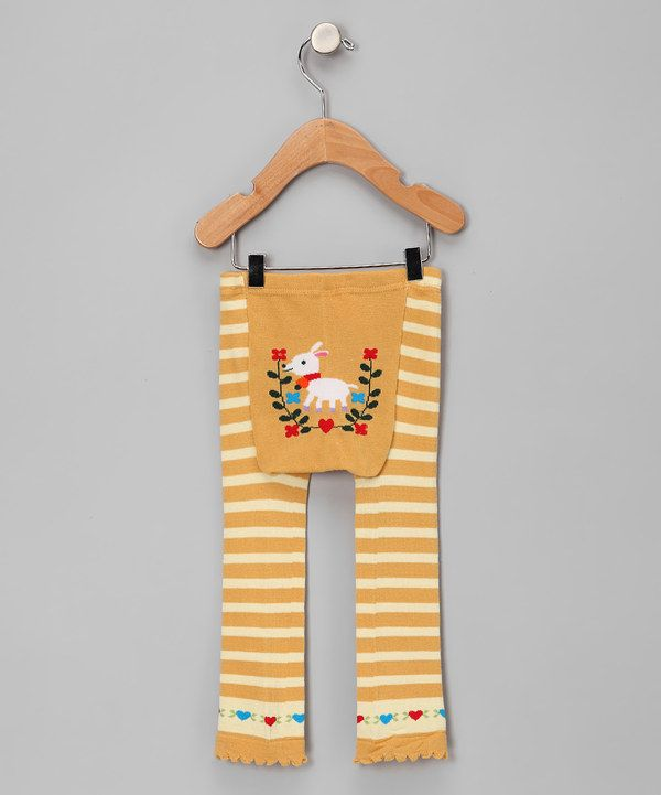 Take a look at this Yellow Stripe Goat Leggings on zulily today!