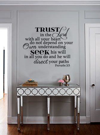 Bible Scripture Vinyl Wall Art Decal Trust in by designstudiosigns, $38.00