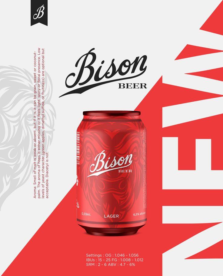 Echa un vistazo a este proyecto @Behance: \u201cBison - beer\u201d https://www.behance.net/gallery/44560387/Bison-beer