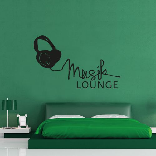 Lovely Wandtattoo Musik Lounge