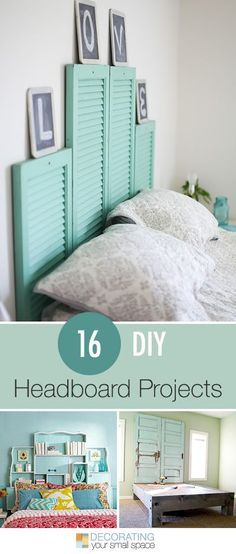 16 DIY Headboard Projects • Tons of Ideas and Tutorials! could do it for my room use 4 chalkboards for the word love or use 3 letters for the name Mia and put them at the headboard.