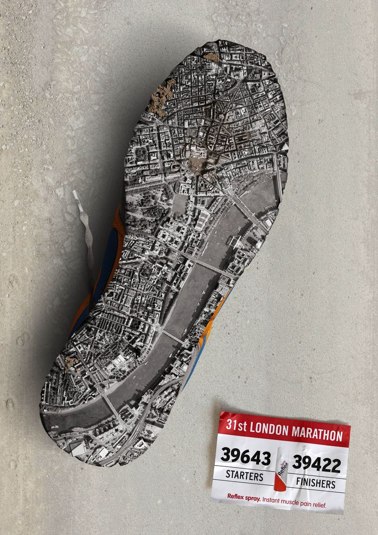 Clever Print Ad. London Marathon. #creative #advertising #advertisement | repinned by www.website-designers.co.nz/