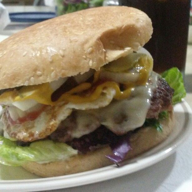 Mi sencilla hamburguesa.