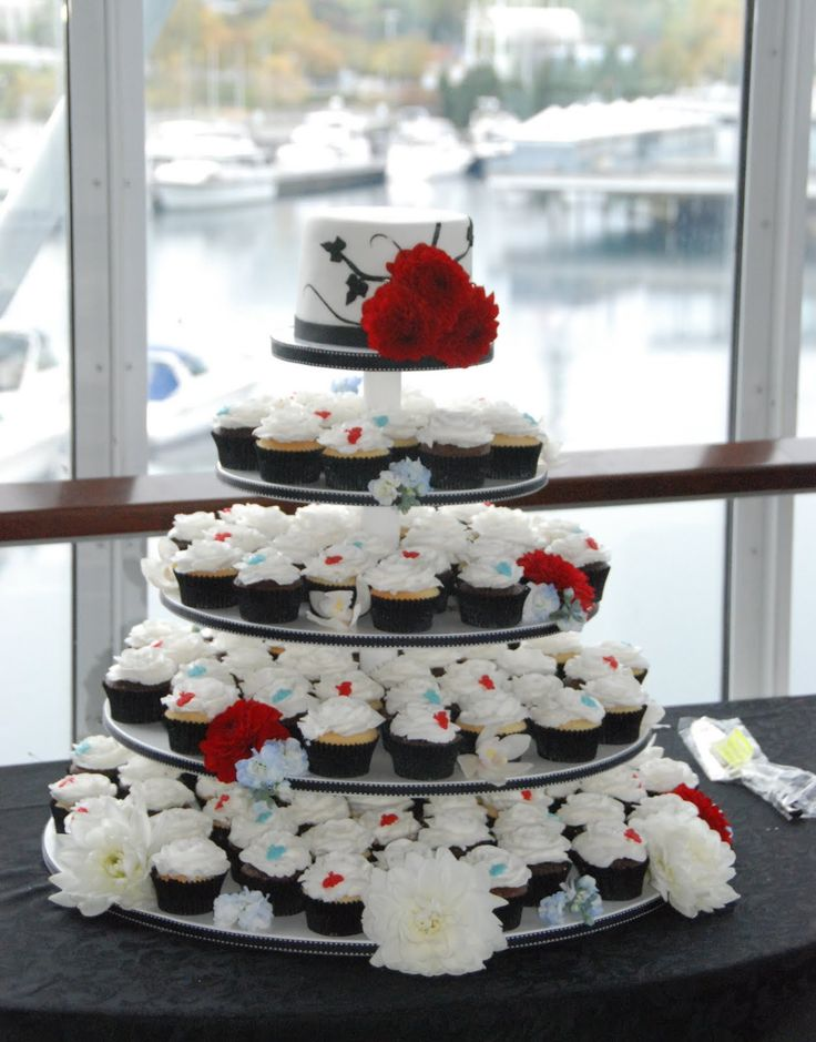 wedding cakes black and red wedding cupcakes ichunmeng wedding cake ideas pinterest. Black Bedroom Furniture Sets. Home Design Ideas