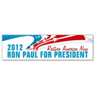 Ron Paul Bumper Stickers: Elect 2012, Bumper Stickers, Paul 2012