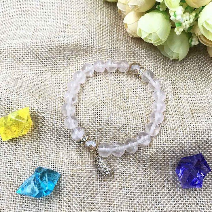UneJoux Fashion Bracelet Beads With Rose Quartz Crystal FBL-2