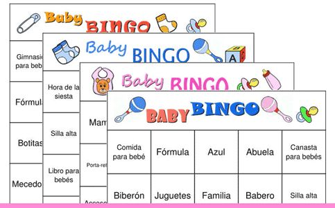 Bingo baby shower español para imprimir - Imagui
