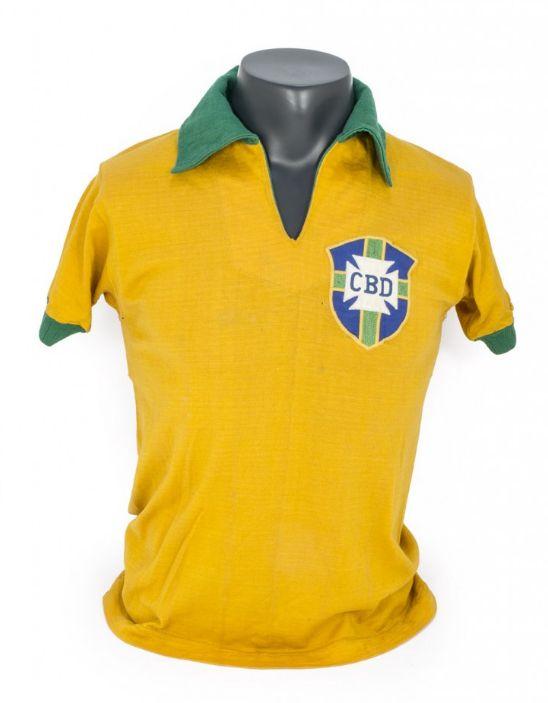 Pele 1958 matchworn World Cup shirt