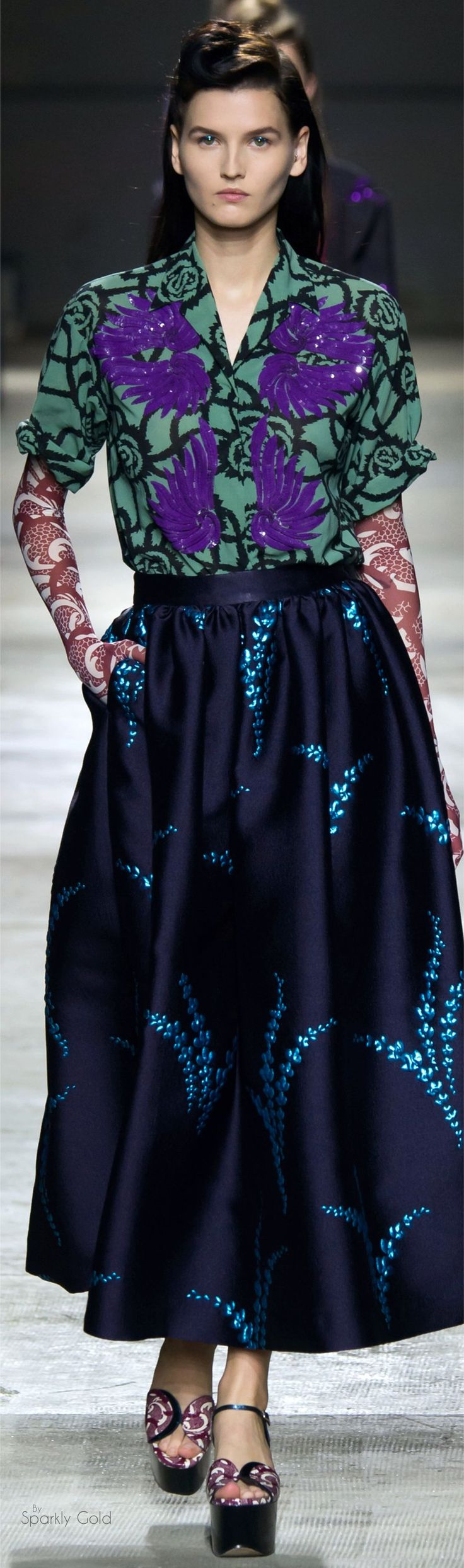Dries Van Noten Spring 2016 RTW- this is great- love the colours and fabrics