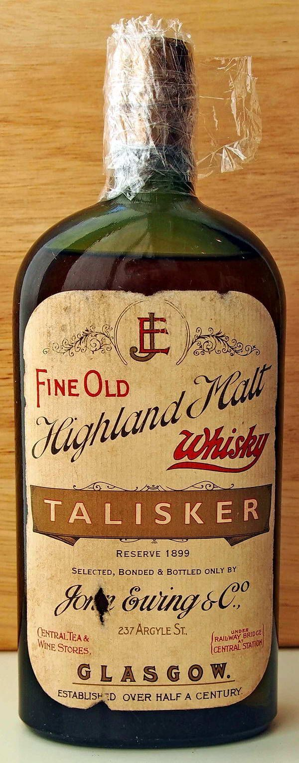 "spgent: "" Talisker 1899 """