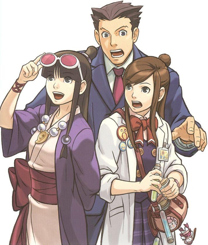 Phoenix, Maya and Emma - Phoenix Wright Ace Attorney