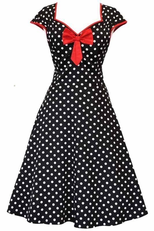 Robe Pin-Up Rétro 50's Rockabilly Isabella Pois