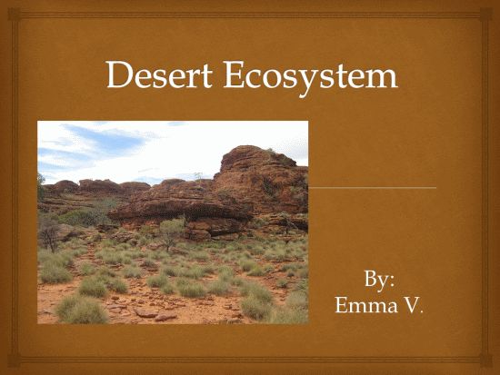 desert ecosystems plus lots of other ideas