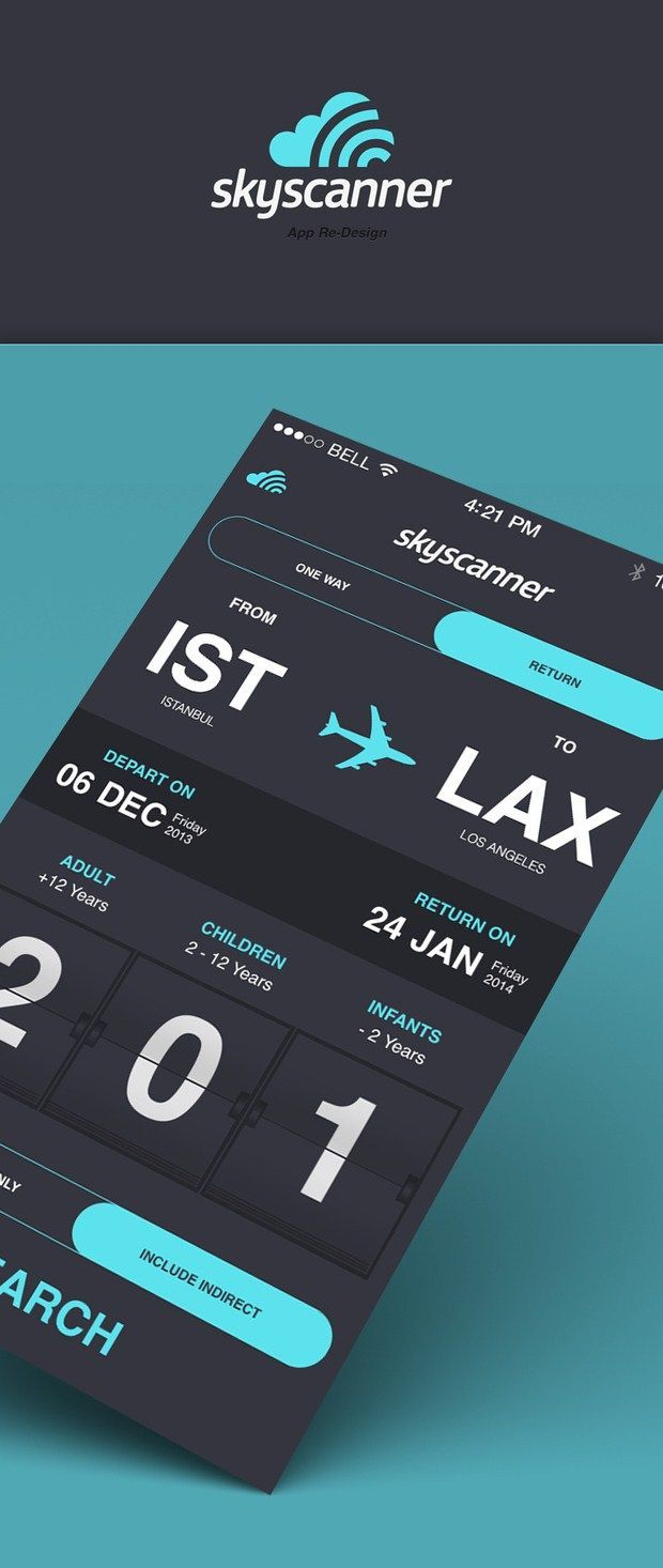 Skyscanner app redesign - by Beyaz Polycarp | #ui: