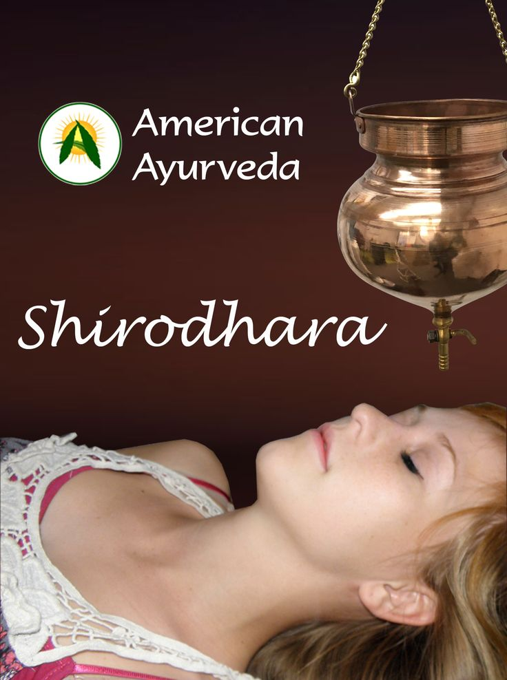 Shirodhara is a form of Ayurveda therapy that involves gently pouring liquids (oil) over the forehead and can be one of the steps involved in Panchakarma. The name comes from the Sanskrit words shiro (head) and dhara (flow). The liquids used in shirodhara depend on what is being treated.   Shirodhara has been used to treat a variety of conditions including eye diseases, sinusitis, allergic rhinitis, greying of hair, neurological disorders, memory loss, insomnia, hearing impairment, tinnitus…