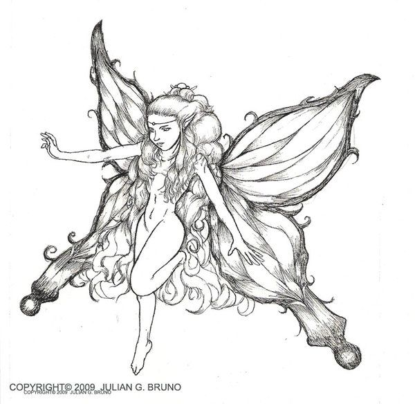 Beautiful Sketches Of Fairies | www.pixshark.com - Images ...