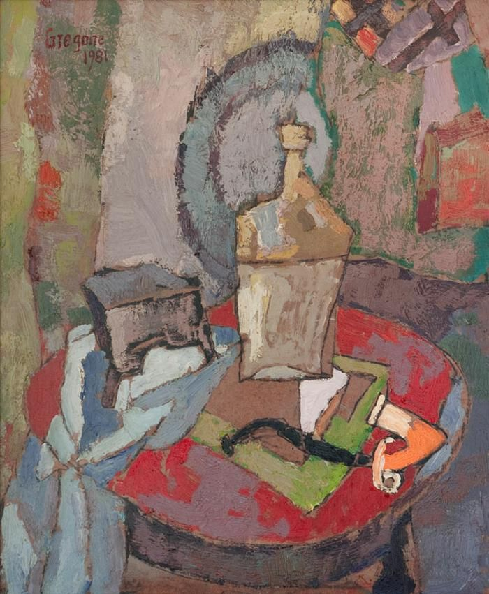 Gregoire Boonzaier: Still life with pipe - SOLD