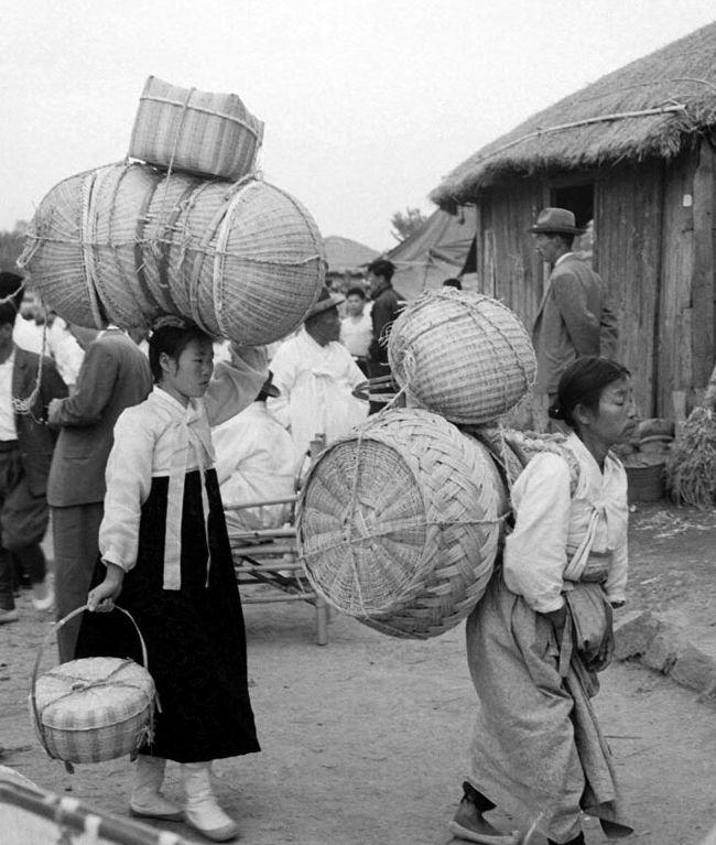 1961년 전남 담양군 죽물시장 - [생생포토]기록으로 만나는 1950~70년대 전통시장 :: 부천타임즈