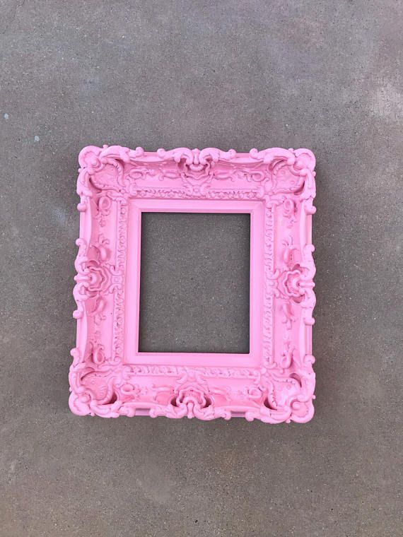 8x10 Pink Frame Baroque Frame Wedding Frames Picture Frame Art