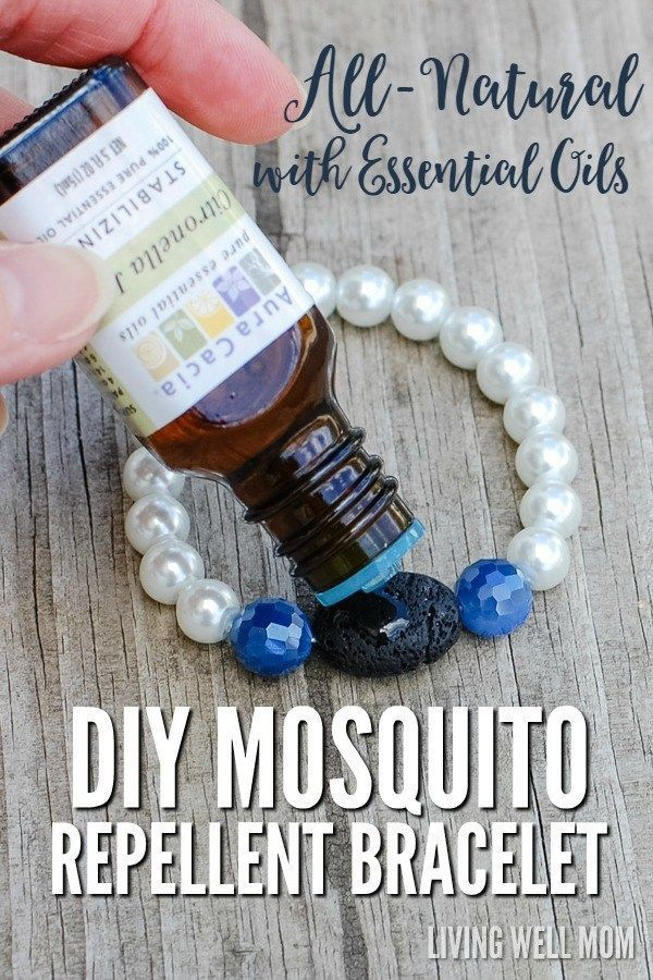 DIY Mosquito Bug repellent bracelet with essential oils/ All natural is the way to go. Pin for Later! #bugrepellent #allnatural #diy #essentialoils #bracelet