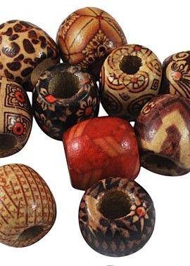 DIY-Jewelry-Making-24pcs-of-Large-Size-Wood-Beads-Lead-Free-Barrel-Wooden-Beads-Mixed-Color-0