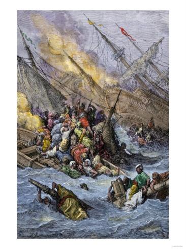 Image Detail for - ... League under Don Juan of Austria, Battle of Lepanto, 1571 Giclee Print