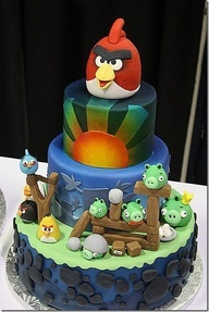 Angery Bird cake I want to make or have someone make :) but only 2tier
