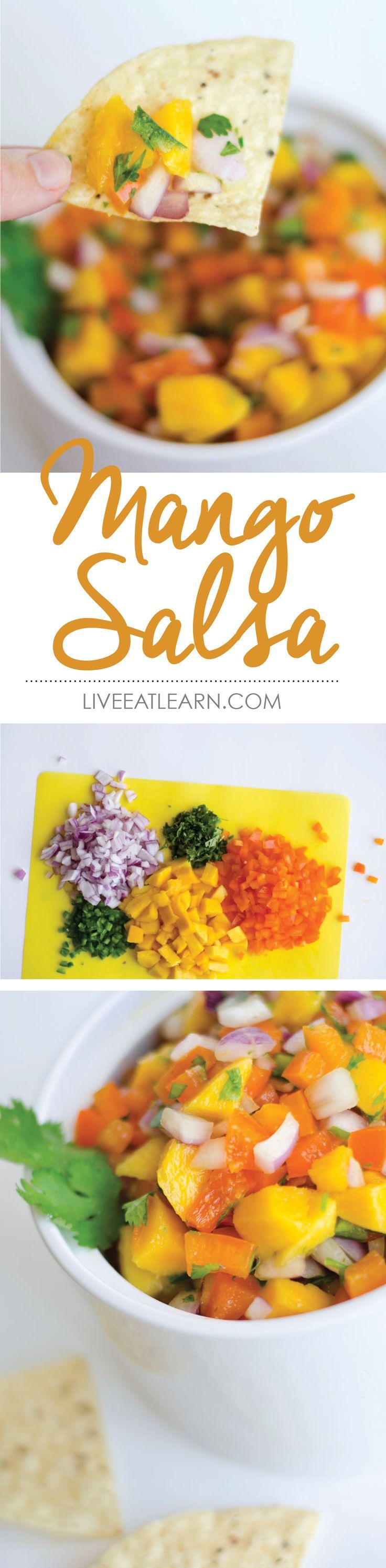 Mango salsa, so simple so summery // Live Eat Learn