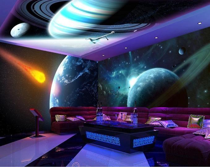 Фото обои настройка 3d Небесная Звезда потолочные фрески обои спальня потолок 3d потолок стереоскопического обои