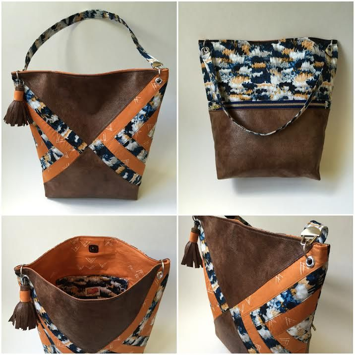 Crystal made this wonder double sided leather tote. If you like this bag make sure to give it a HEART/LIKE. Re-PIN for an extra point towards this project.