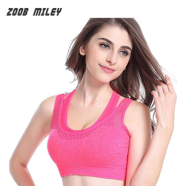 Women Sexy Sports Bra Shockproof  Running Jogging Sleeveless Gym Fitness Yoga Shirts Ladies Sports Bras Push Up Top Tanks #Affiliate