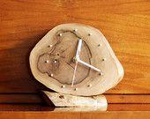 Hand-made walnut clock with backlight.