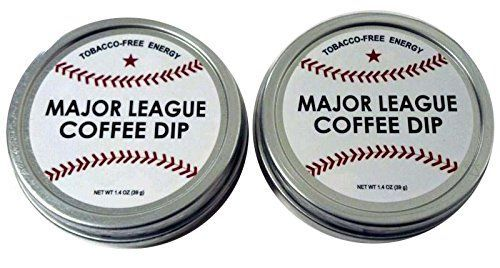 Major League Coffee Dip (Pack of 2) Quit Chewing Tin Can Non Tobacco Nicotine Free Smokeless Alternative to Chew Snuff Snus Leaf Los Angeles Angels of Aneheim Oakland Athletics Seattle Mariners Texas Rangers Cleveland Indians Detroit Tigers Minnesota Twins Kansas City Royals Chicago White Sox Toronto Blue Jays Baltimore Orioles Tampa Bay Rays Boston Red Sox New York Yankees Washington Nationals New York Mets Philadelphia Phillies Atlanta Braves Florida Miami Marlins Milwaukee Brewers St. Lou