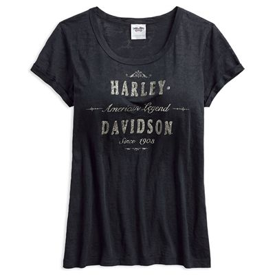 Women's American Legend Burnout Tee by Harley-Davidson